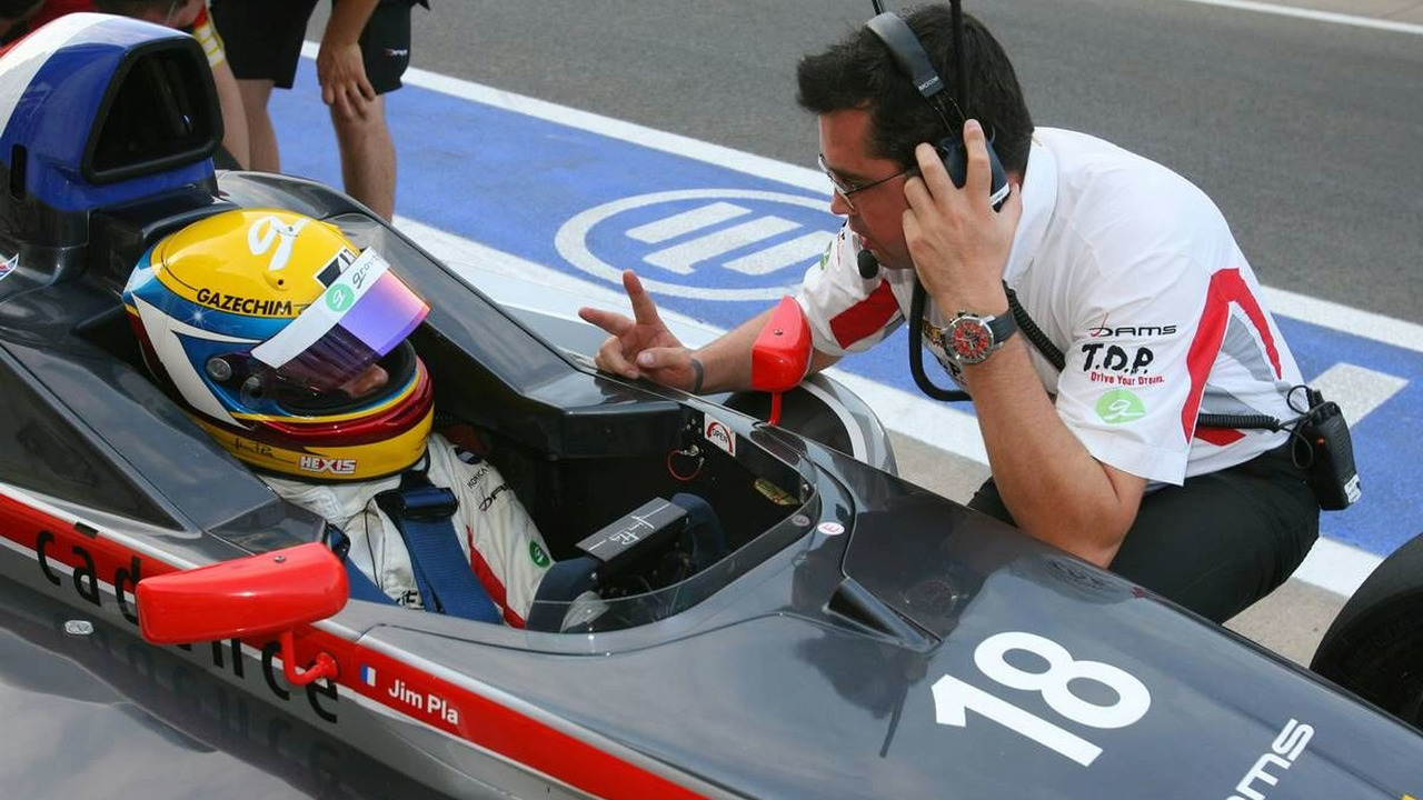 Jim Pla (FRA), DAMS with Eric Boullier - Formula BMW Europe 2009, Friday, 21.08.2009 Valencia, Spain