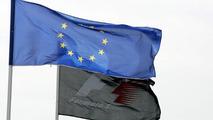 The European union flag - May, European Grand Prix, Nürburgring, 26.05.2005 Nuerburg, Germany