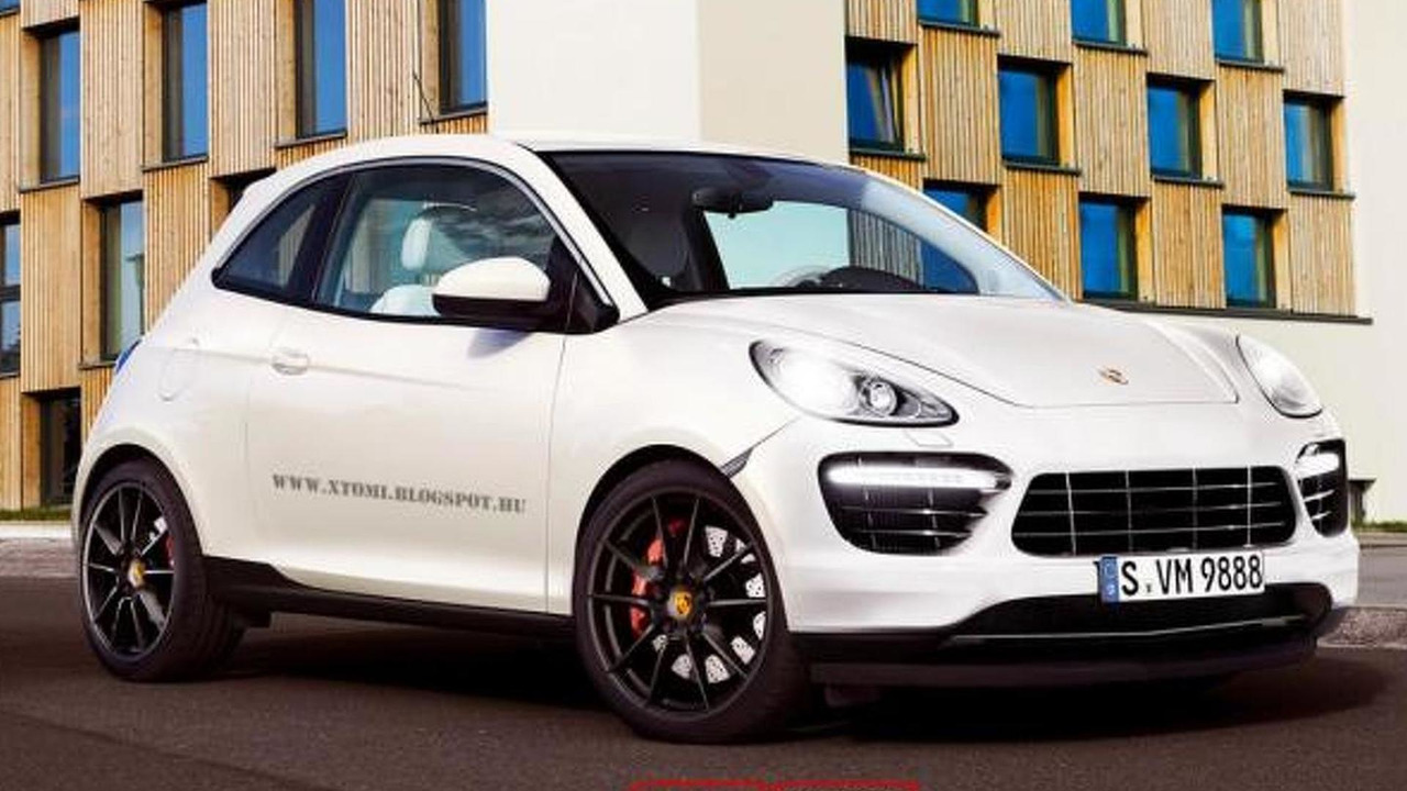 Porsche Boxenne S compact car artist rendering