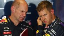 Adrian Newey with Sebastian Vettel 10.05.2013 Spanish Grand Prix