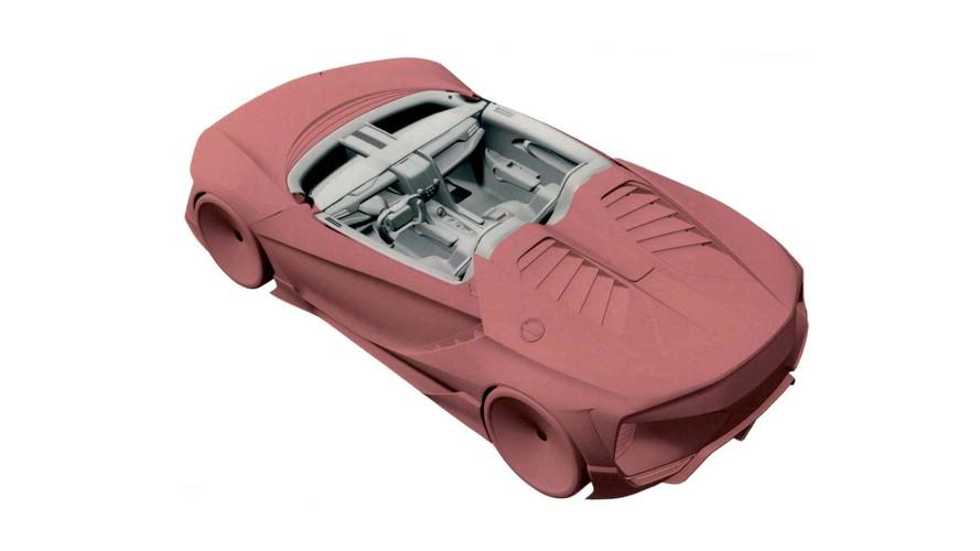 Un Honda NSX 'a escala' visita la oficina de patentes