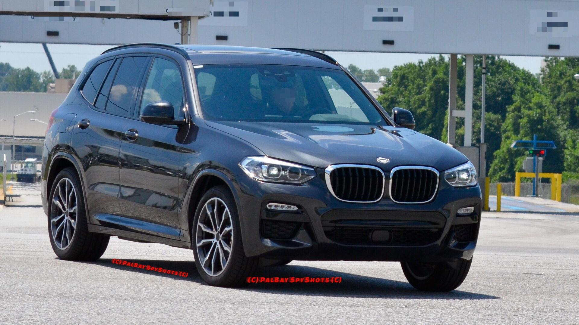 2018 bmw x3 spied with m sport pack in real world. Black Bedroom Furniture Sets. Home Design Ideas