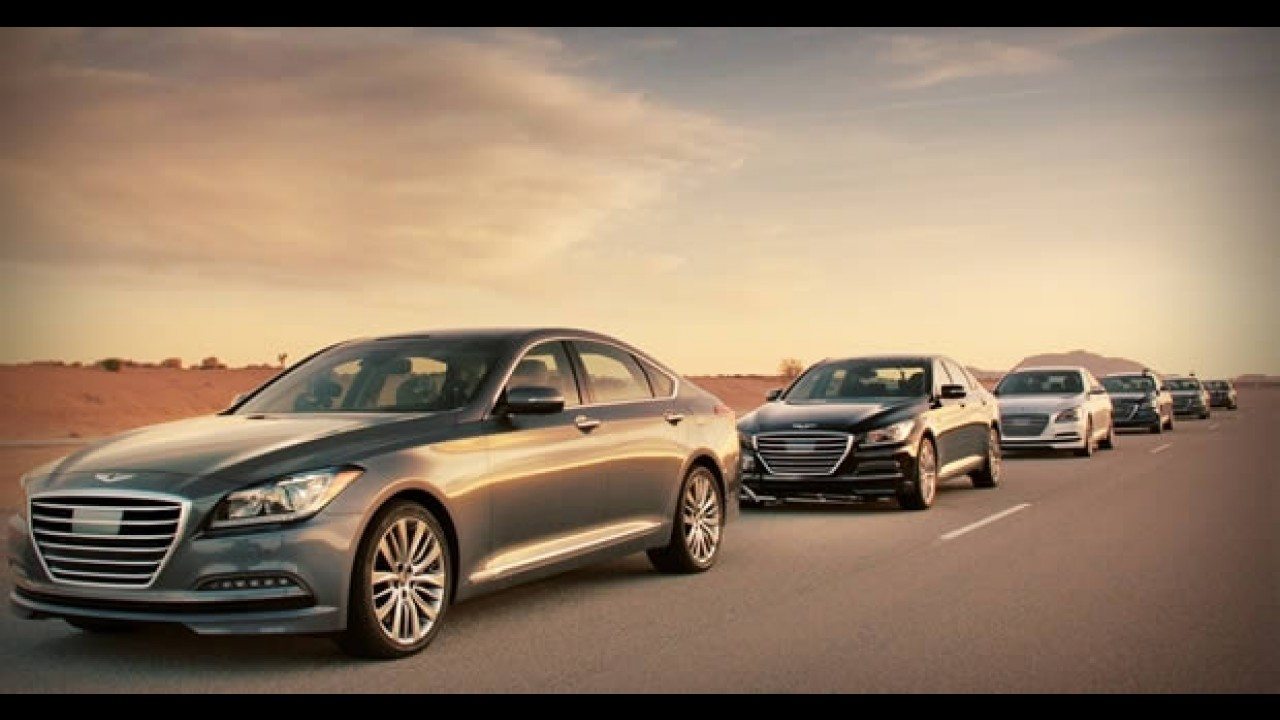 Vídeo: Hyundai mostra comboio de Genesis sem motoristas