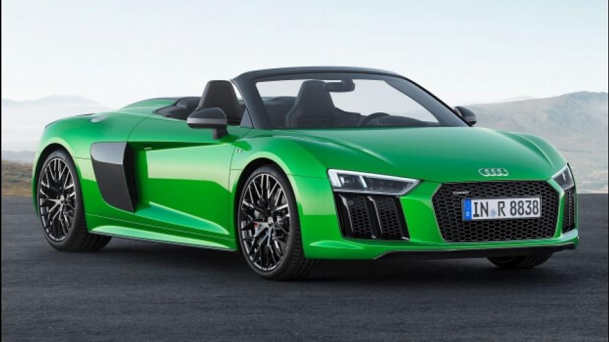 Audi R8 Spyder V10 plus, la libertà di oltre 600 CV all'aperto