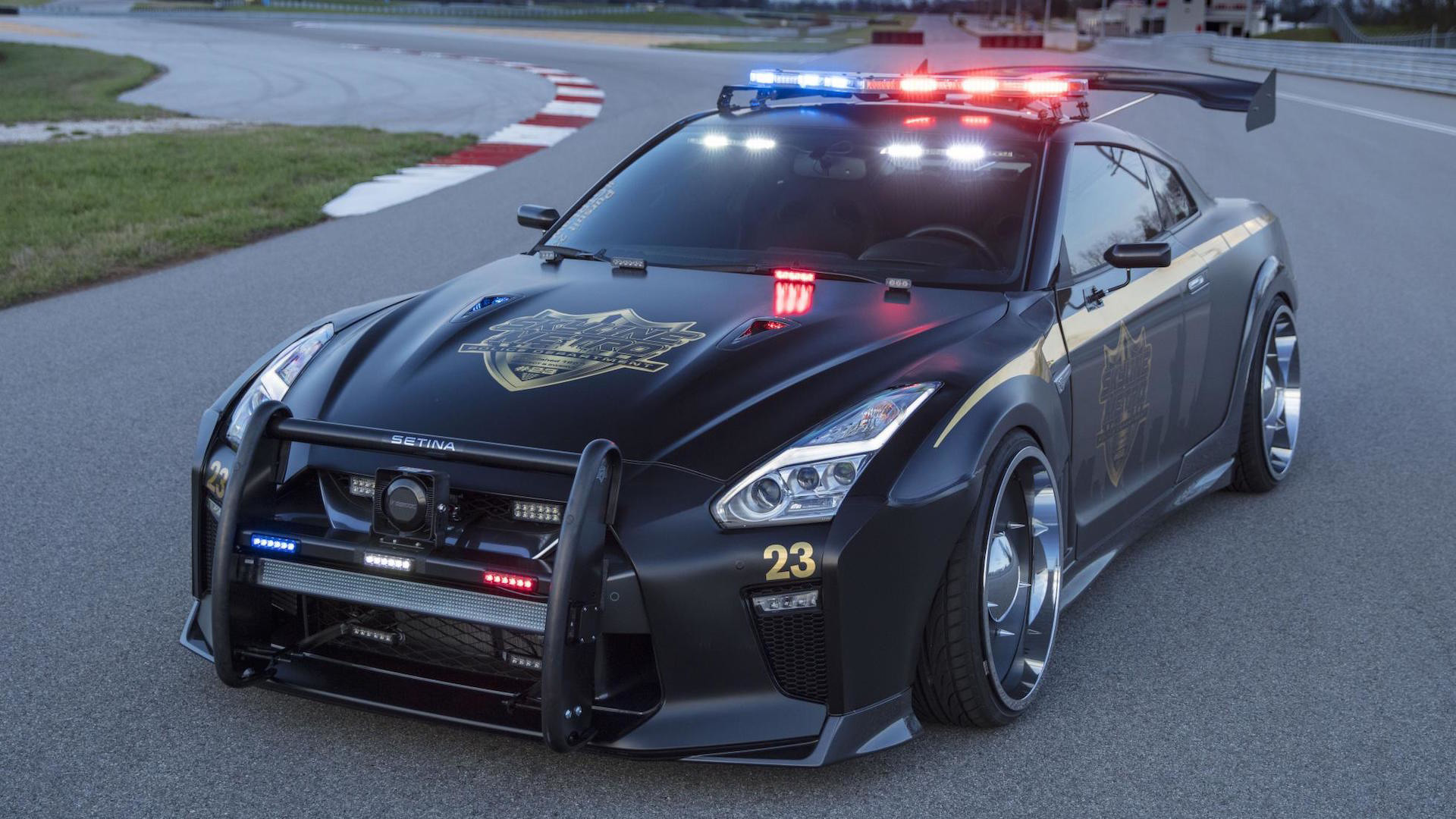 Copzilla Is Coming To New York Nissan GT R Police Car At NYIAS