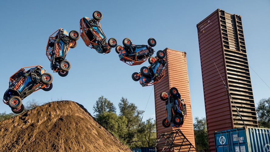 See A Polaris UTV Do A Back Flip, Rail Slide And Wall Of Death