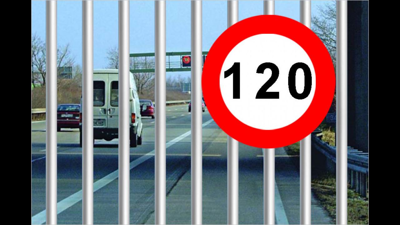 Für schnelles Fahren ins Gefängnis