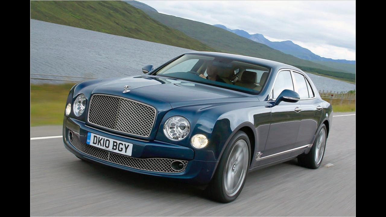 Sieben Exemplare: Bentley Mulsanne