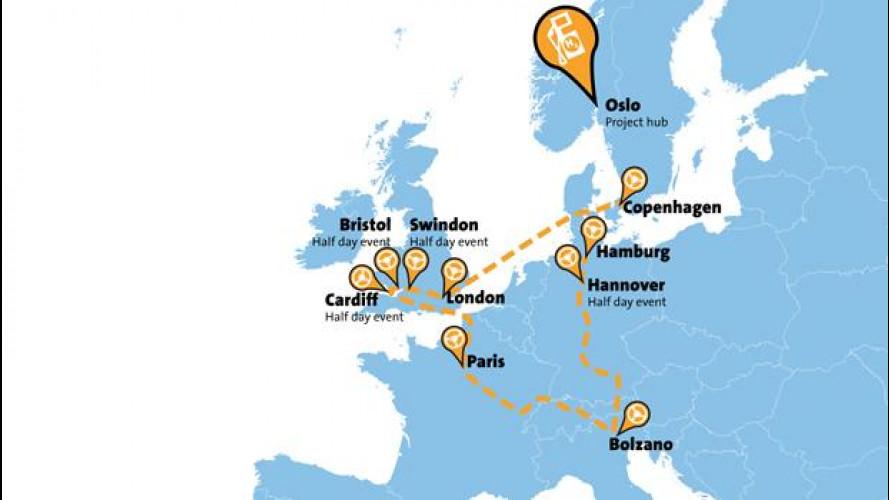 In tour per l'Europa con l'auto ad idrogeno