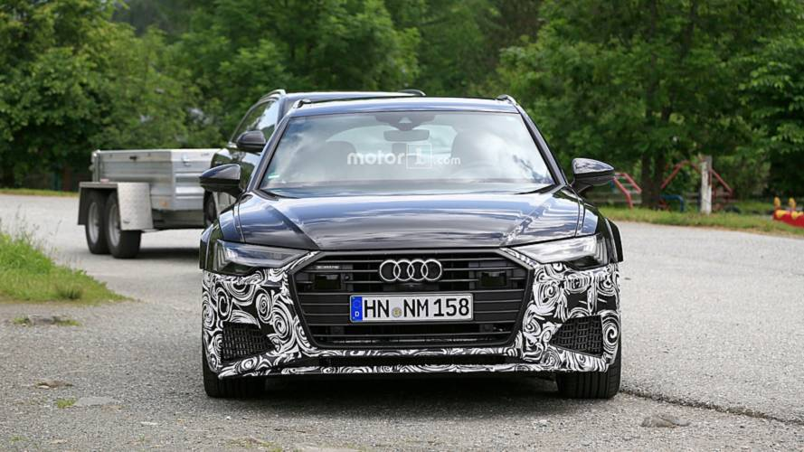 new audi rs6 avant spied with barely any camouflage. Black Bedroom Furniture Sets. Home Design Ideas