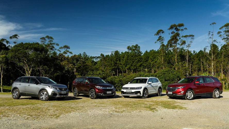 Comparativo: VW Tiguan x Honda CR-V x Peugeot 3008 x Chevrolet Equinox - A vez dos médios
