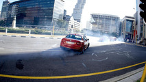 BMW M235i Coupe in drift mob show