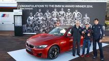 BMW M4 Coupe for 2014 MotoGP best qualifier Marc Marquez