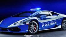 Lamborghini Huracan with Polizia livery