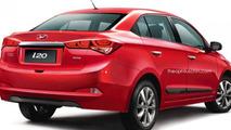 Hyundai i20 Sedan rendering / Theophilus Chin