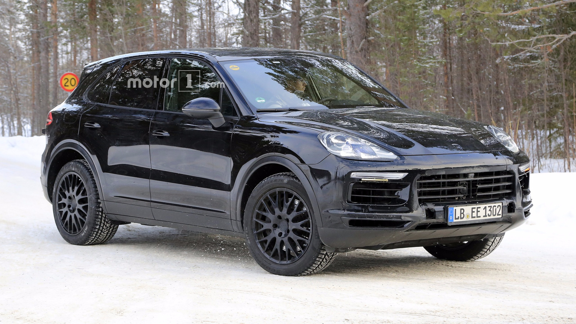 2019 porsche cayenne spied with very little disguise. Black Bedroom Furniture Sets. Home Design Ideas
