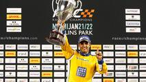 Podium- Race winner Juan Pablo Montoya