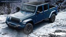 2018 Jeep Wrangler pickup truck rendering
