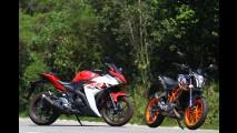 Avaliação: Yamaha R3 ou KTM 390 Duke - qual diverte mais por R$ 22 mil?