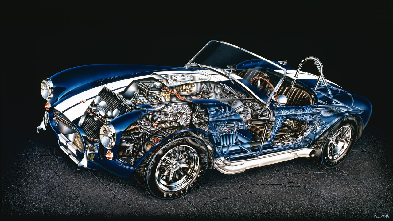 5 incredibly tiny details in kimble s shelby cobra cutaway rh motor1 com  shelby cobra wiring harness