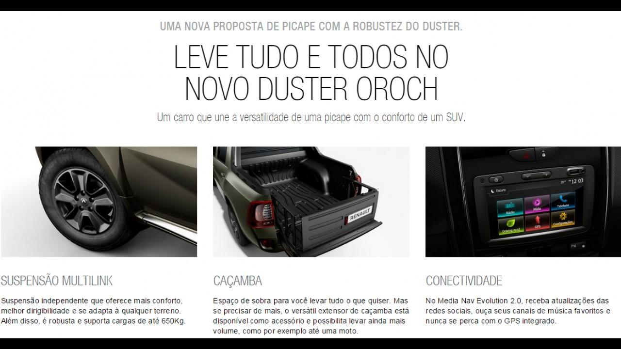Renault lança sites e começa a divulgar Sandero RS e Oroch no Brasil