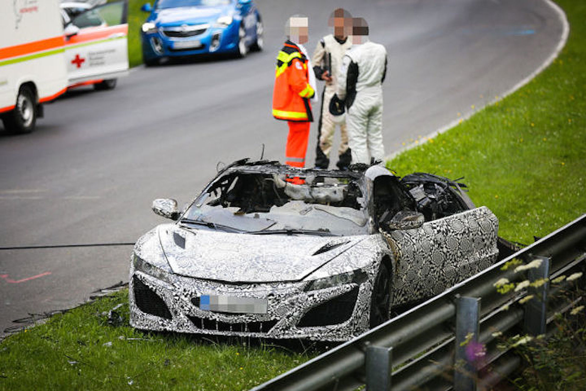 Acura NSX Catches Fire During Nurburgring Testing [w/Video]