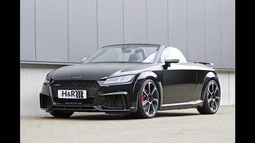 Das Audi TT RS Roadster wird mit Sportfedern noch dynamischer