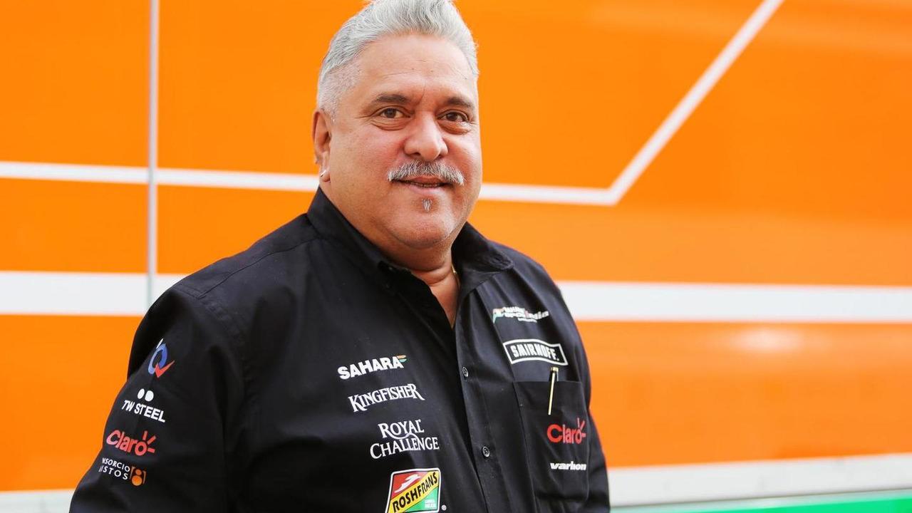 Dr. Vijay Mallya Sahara Force India F1 Team Owner 10.05.2014 Spanish Grand Prix