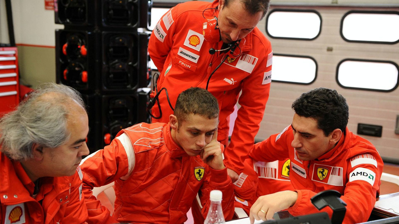 Valentino Rossi with Ferrari F1 Team