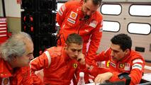 Valentino Rossi with Ferrari F1 Team