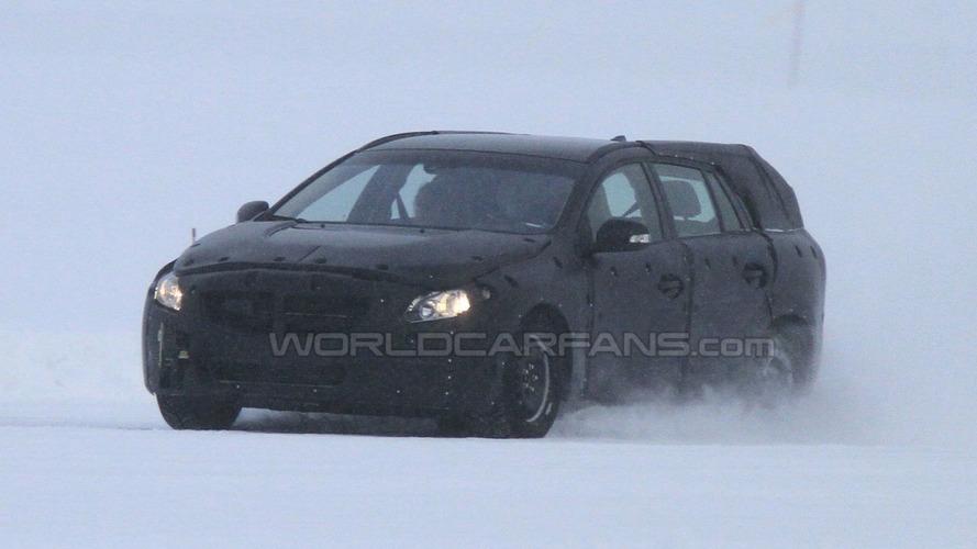 2012 Volvo V60 Spied Testing on Frozen Lake