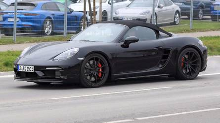 Porsche 718 Boxster Spyder Spied Showing Off Its Sharp New Lines
