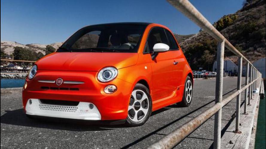 Fiat 500 elettrica a Francoforte vs Volkswagen e-up!