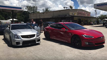 Tesla Model S P100D versus Cadillac CTV-S