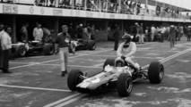 Mexiko-Stadt 1966: Peter Arundell (Lotus) y Jim Clark (Lotus)