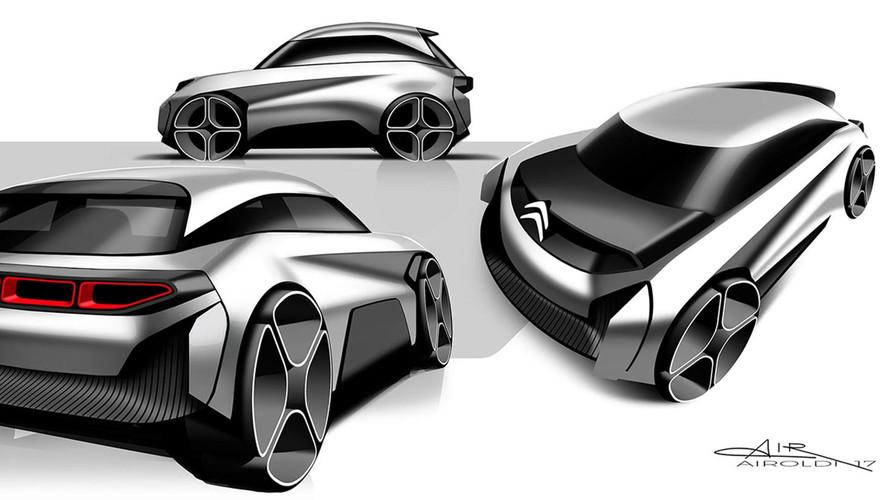 Citroen C-Électrique Design Rendu