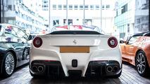 Ferrari F12 Berlinetta SPIA by DMC shows carbon aerodynamic body parts in Hong Kong