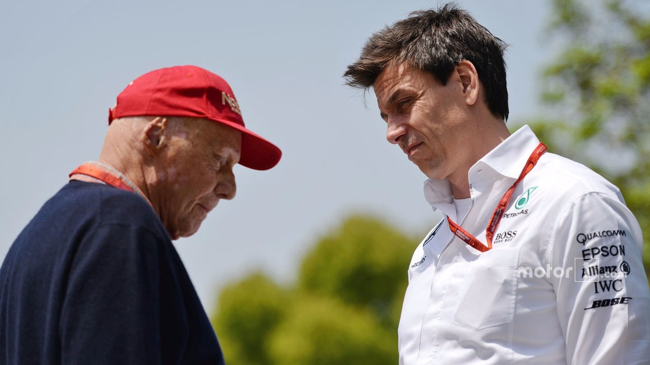Niki Lauda, Mercedes Non-Executive Chairman and Toto Wolff, Mercedes GP Executive Director