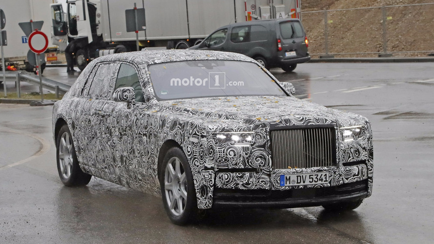 2018 Rolls-Royce Phantom prototype sheds more camo