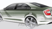 Skoda Rapid production version sketch