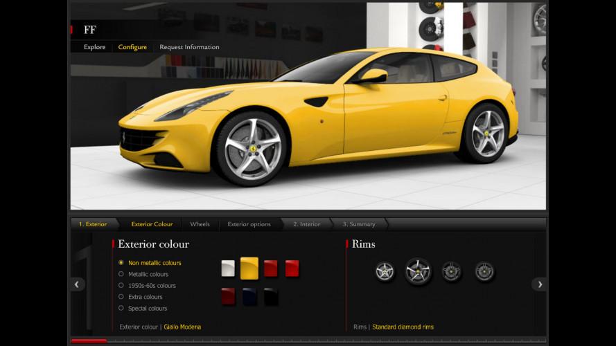 Ferrari FF: il configuratore online