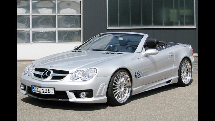 Heiße Optik für den Mercedes SL: Tuning von Piecha Design