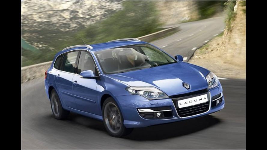 Renault Laguna mit neuer Frontpartie und mehr Auswahl