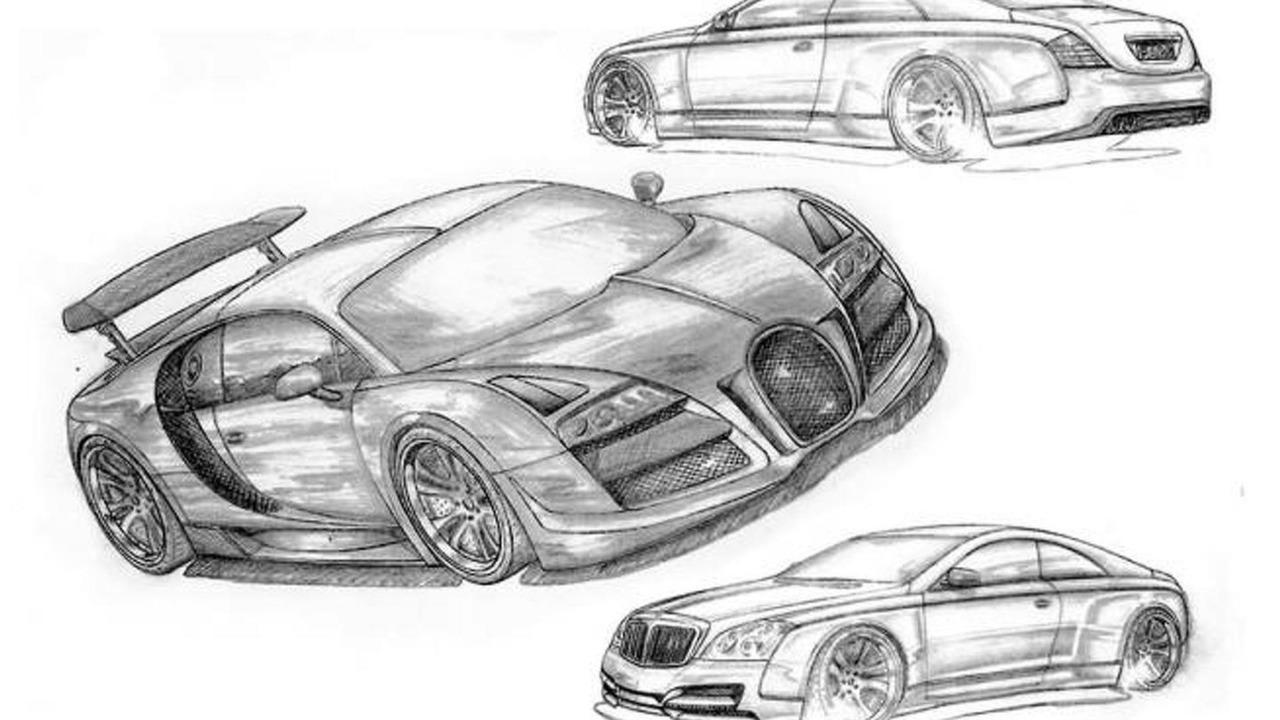 FAB Design Bugatti Veyron & Maybach 57S Coupe sketches - 16.12.2011