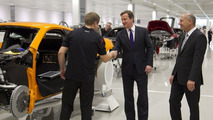 McLaren Production Center opening with prime minister David Cameron - 23.11.2011