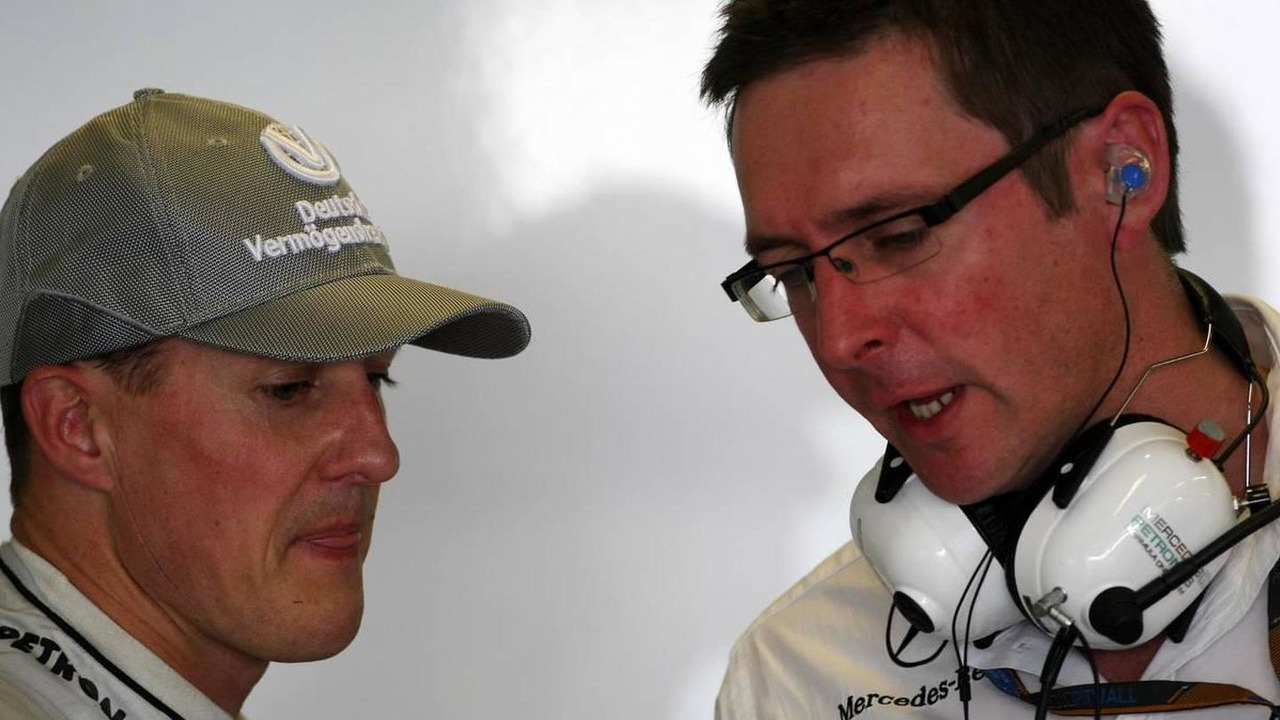 Michael Schumacher (GER), Andrew Shovlin (GBR), Mercedes GP Petronas, Formula 1 World Championship, Rd 19, Abu Dhabi Grand Prix, 13.11.2010 Abu Dhabi