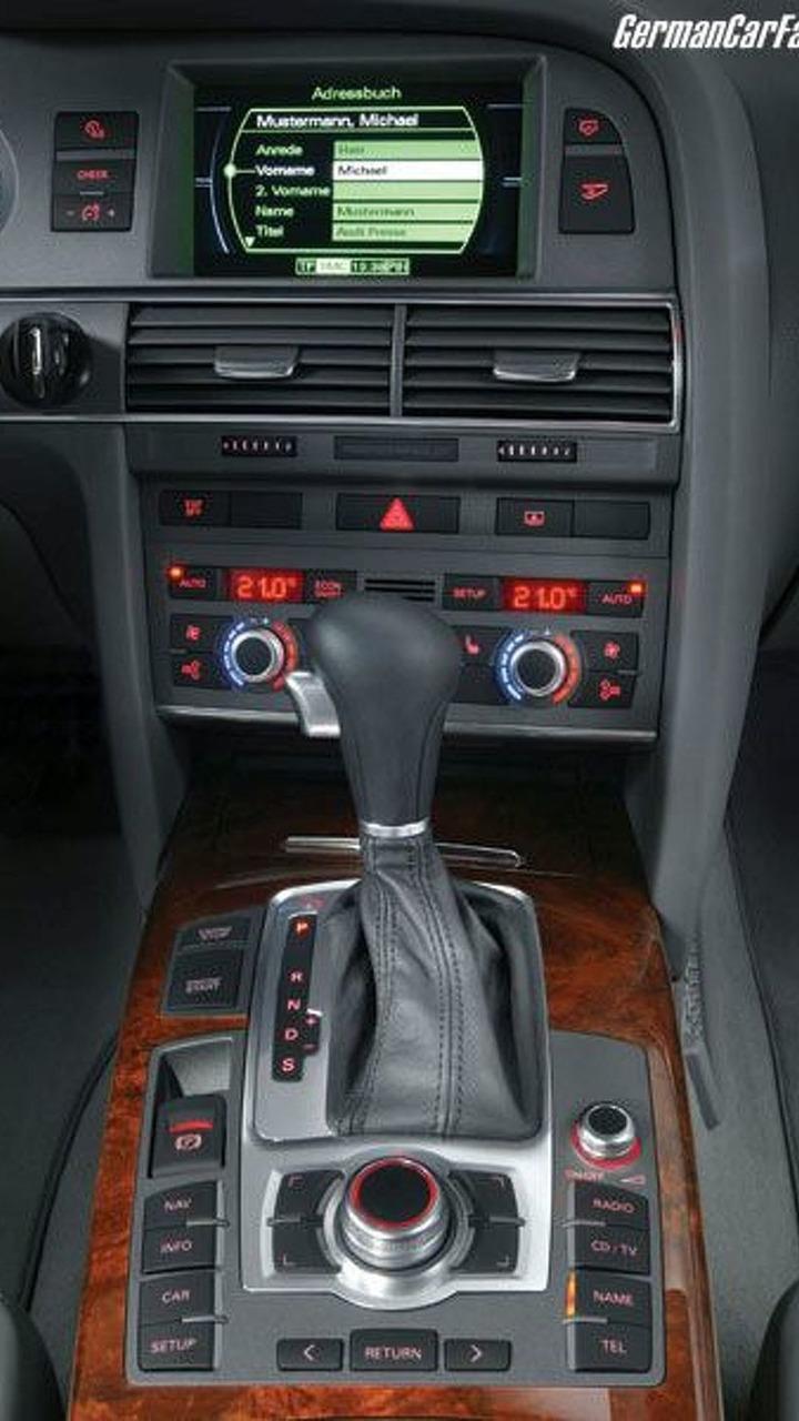 Audi A6 center console with MMI control