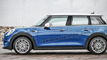MINI five-door hatchback render