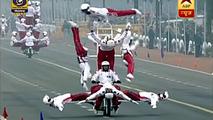Hindistan, Cumhuriyeti motosiklet şovlarıyla kutladı