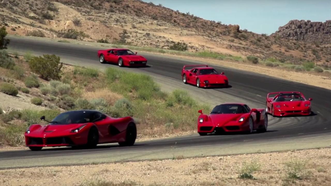 Jay Leno in a Ferrari video